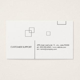 Cartes De Visite Lignes et carrés minimalistes