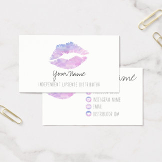 Cartes de visite lilas d'aquarelle
