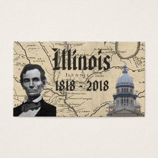 Cartes De Visite L'Illinois historique bicentenaire
