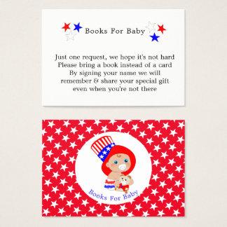 Cartes De Visite Livres américains d'Oncle Sam patriotique pour le