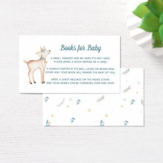 Cartes De Visite Livres de baby shower de région boisée d'hiver