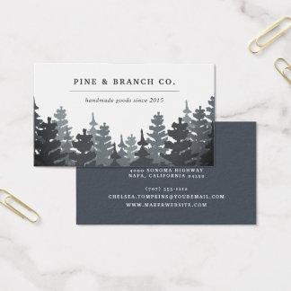 Cartes De Visite Logo à feuillage persistant d'arbre de la forêt |