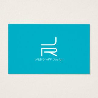 Cartes De Visite Logo abstrait minimal hyper d'initiales