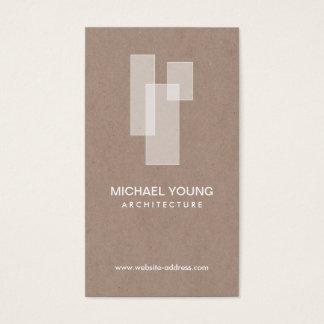 Cartes De Visite LOGO ARCHITECTURAL BLANC sur Craftboard bronzage