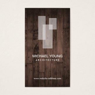 Cartes De Visite LOGO ARCHITECTURAL BLANC sur la fibre de bois