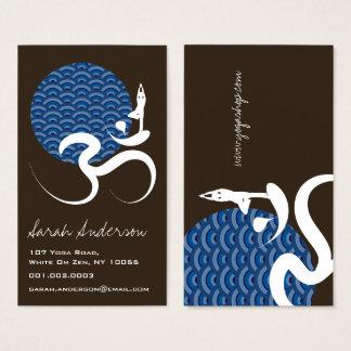 Cartes De Visite Logo de inscription indien spirituel d'ohm de l'OM
