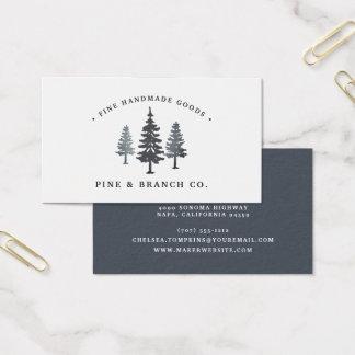 Cartes De Visite Logo de pin de la forêt | d'hiver