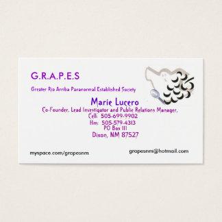 Cartes De Visite Logo de RAISINS, Marie Lucero, B.P. 111, Dixon, N…