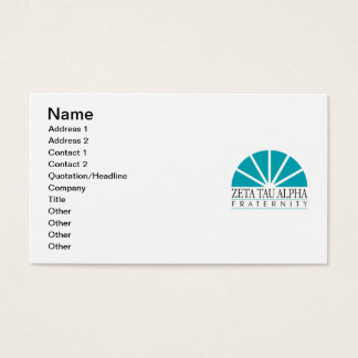 Cartes De Visite Logo de ZTA