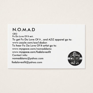 Cartes De Visite Logo, N.O.M.A.D, pour entendre les FO DA Lov… -