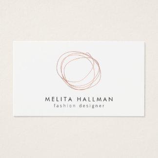 Cartes De Visite Logo rose minimal II de griffonnage de concepteur