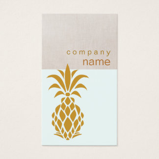 Cartes De Visite Logo tropical élégant d'ananas