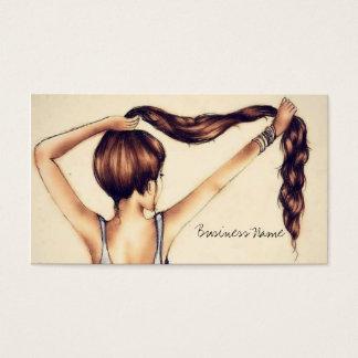 Cartes De Visite Longue beauté de cheveux