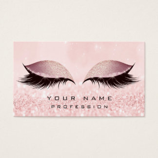 Cartes De Visite L'or de maquillage rougissent extension rose de
