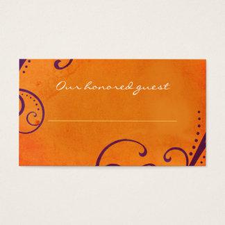 Cartes De Visite L'orange avec la prune tourbillonne