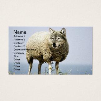 Cartes De Visite Loup dans l'habillement de moutons