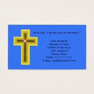 Cartes De Visite Lumière du chrétien de croix du monde