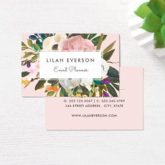 Cartes De Visite Lumière florale peinte par | botanique du bonheur