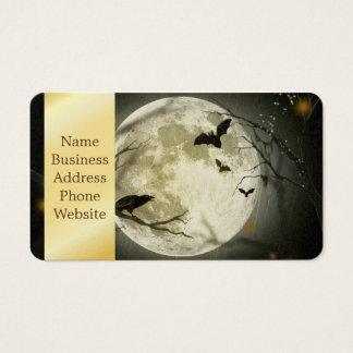 Cartes De Visite Lune de Halloween - illustration de pleine lune
