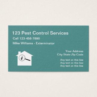 Cartes De Visite Lutte contre les parasites exterminant le service