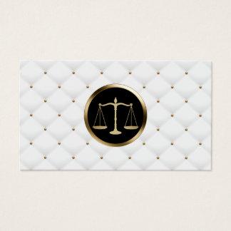 Cartes De Visite Luxe de logo d'échelle d'or de mandataire d'avocat