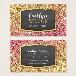 Cartes De Visite Luxe étincelant scintillant d'or de parties