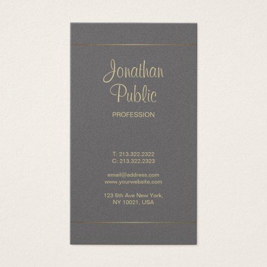 Cartes De Visite Luxe Simple Lgant Calligraphie Manuscrite