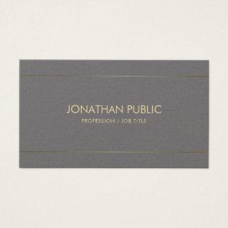 Cartes De Visite Luxe simple élégant de conception artistique
