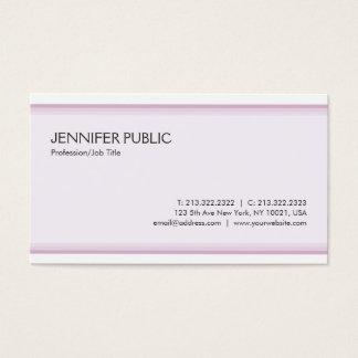 Cartes De Visite Luxe simple futé de couleur élégante moderne à la