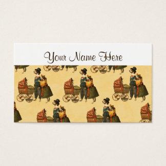 Cartes De Visite M. et Mme Dog et papier peint vintage 1899 de