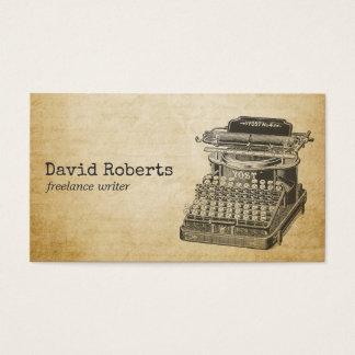 Cartes De Visite Machine à écrire de cru de rédacteur d'auteur