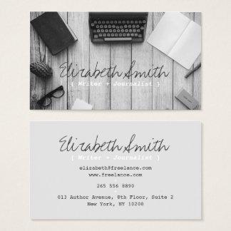 Cartes De Visite Machine à écrire noire et blanche vintage d'auteur