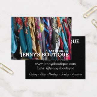 Cartes De Visite Magasin coloré de mode de boutique de photographie