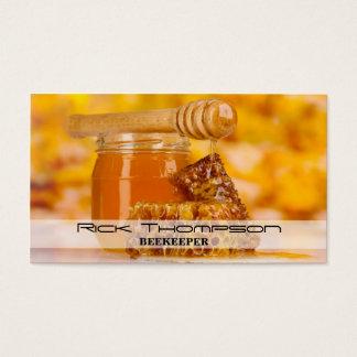 Cartes De Visite Magasin d'agriculteur de ferme d'abeille de