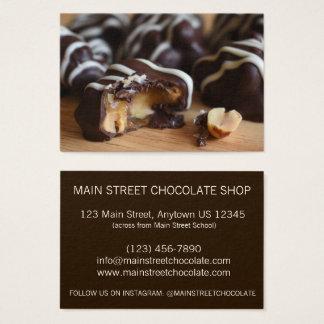 Cartes De Visite Magasin de bonbons au chocolat à Chocolatier de