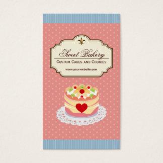 Cartes De Visite Magasin de boulangerie de dessert de gâteaux et de