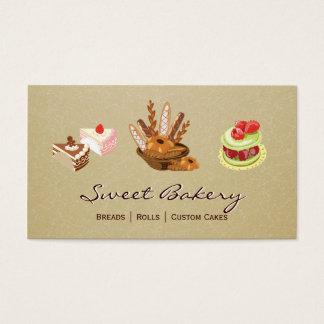 Cartes De Visite Magasin de boulangerie de dessert de Rolls de