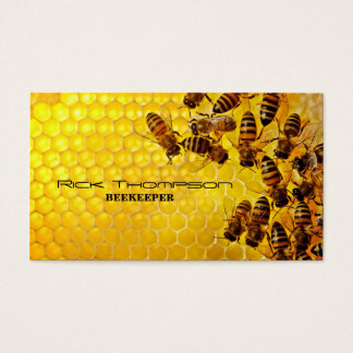Cartes De Visite Magasin de ferme d'abeille d'agriculteur de