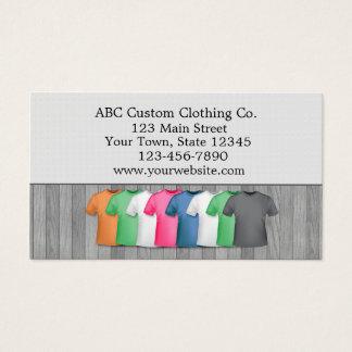 Cartes De Visite Magasin d'habillement de T-shirt
