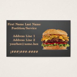 Cartes De Visite Magasin d'hamburger