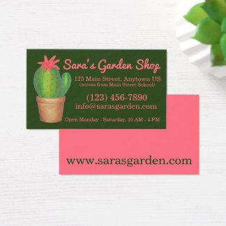 Cartes De Visite Magasin mis en pot de jardin d'agrément de cactus