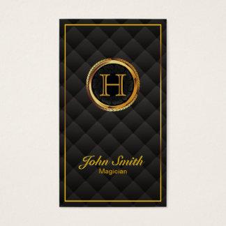 Cartes De Visite Magicien de luxe de monogramme d'or