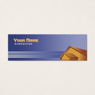 Cartes de visite maigres de charpentier
