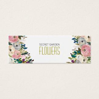 Cartes de visite maigres de fleuriste floral de