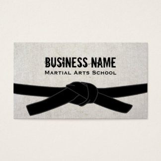 Cartes De Visite Maître de ceinture noire de Dojo de karaté d'école
