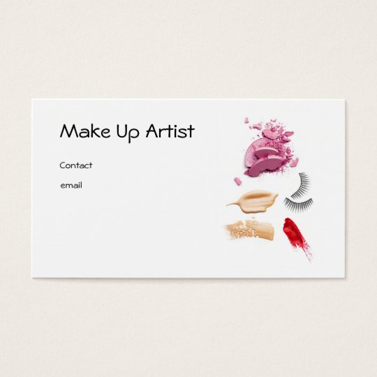 Cartes De Visite Make Up Artist