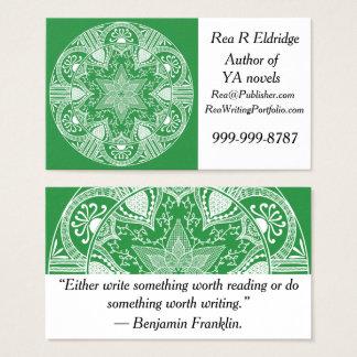 Cartes De Visite Mandala d'algue