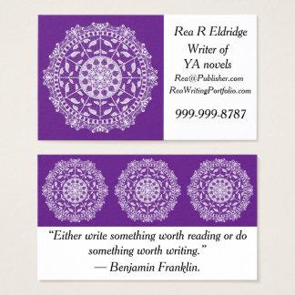 Cartes De Visite Mandala d'aubergine