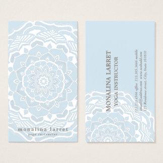 Cartes De Visite Mandala de Bohème tribal dessinant le bleu chic