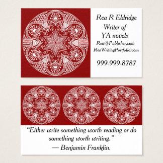 Cartes De Visite Mandala de framboise